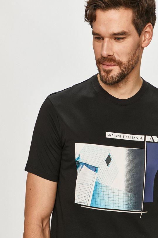 negru Armani Exchange - Tricou
