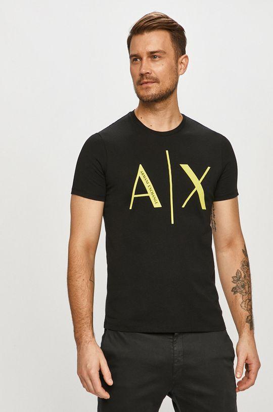 černá Armani Exchange - Tričko Pánský