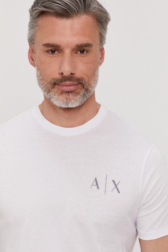 biały Armani Exchange - T-shirt