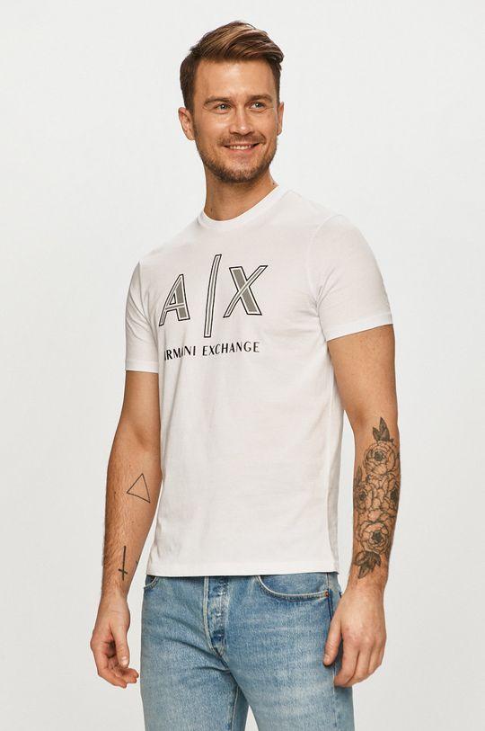 alb Armani Exchange - Tricou De bărbați