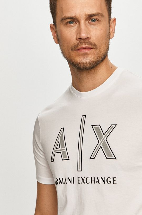 alb Armani Exchange - Tricou
