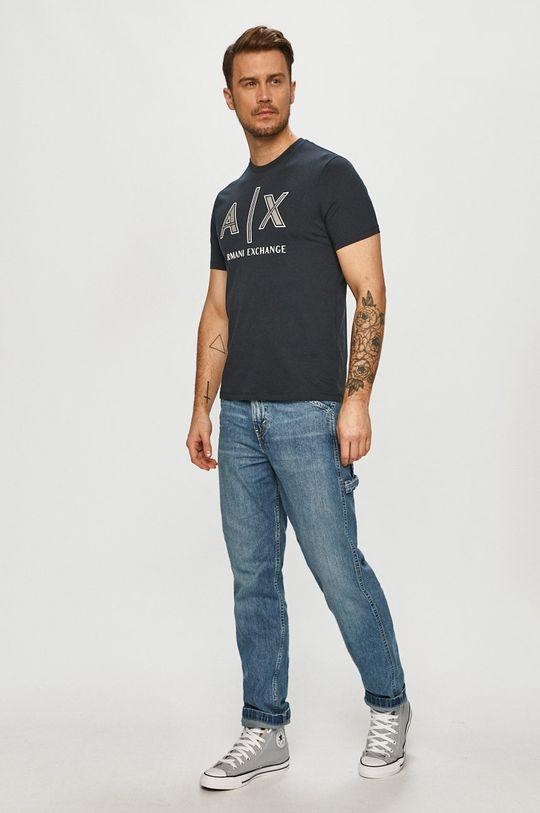Armani Exchange - T-shirt granatowy