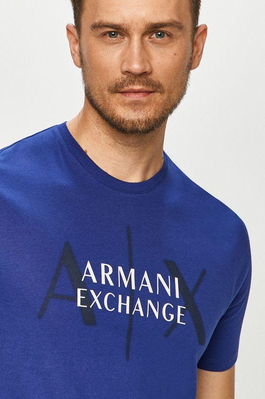 tmavomodrá Armani Exchange - Tričko Pánsky
