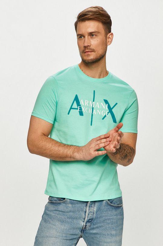 svetlá tyrkysová Armani Exchange - Tričko Pánsky