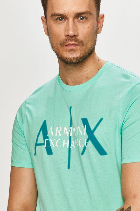 svetlá tyrkysová Armani Exchange - Tričko