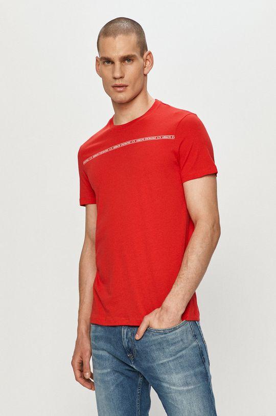 červená Armani Exchange - Tričko Pánský