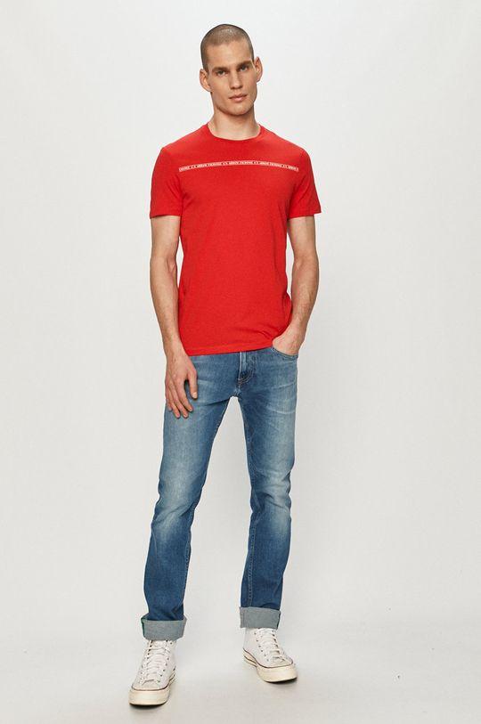 Armani Exchange - Tričko červená