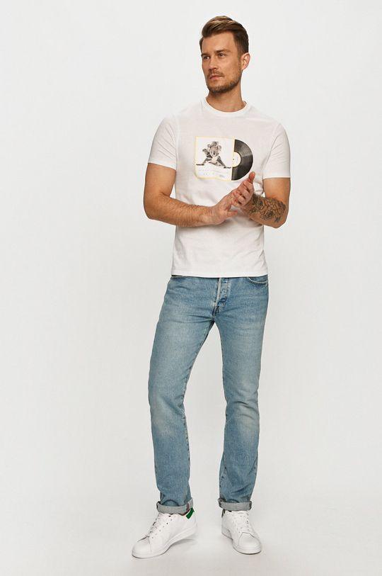Armani Exchange - Tričko x National Geographic biela