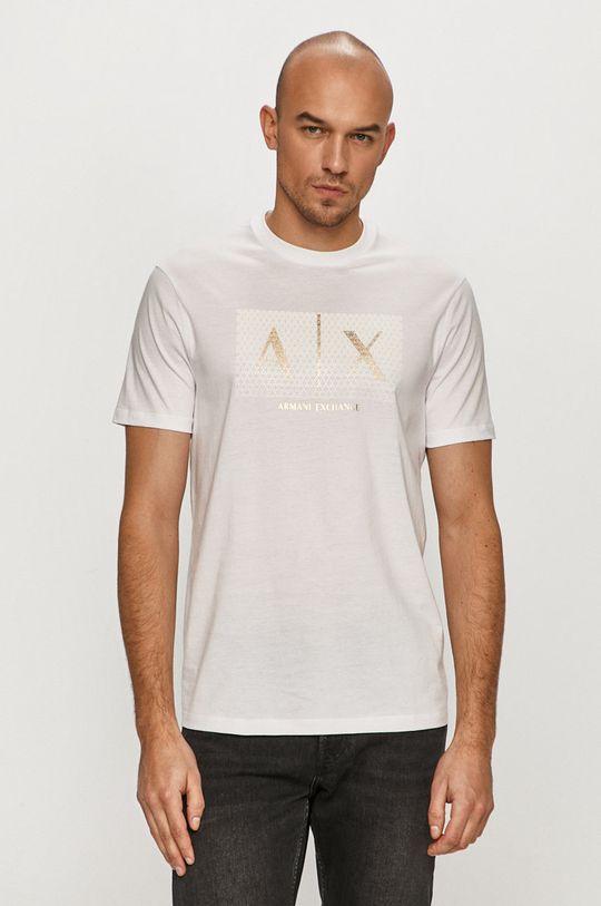 biela Armani Exchange - Tričko Pánsky