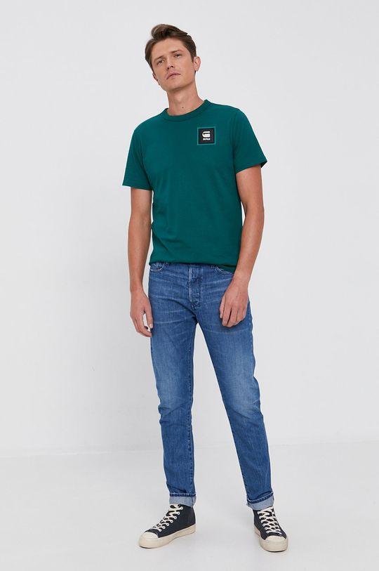 jasny zielony G-Star Raw - T-shirt Męski