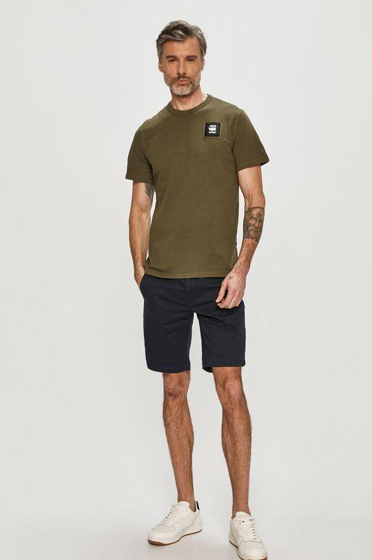 G-Star Raw - T-shirt brudny zielony