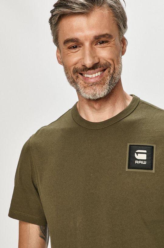 brudny zielony G-Star Raw - T-shirt