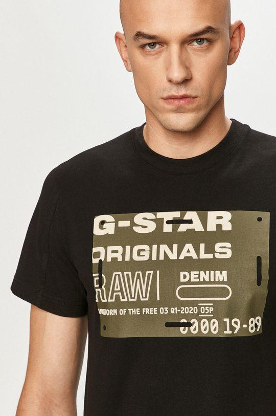 černá G-Star Raw - Tričko Pánský