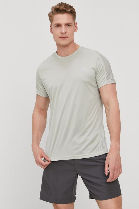 jasny oliwkowy adidas Performance - T-shirt Męski