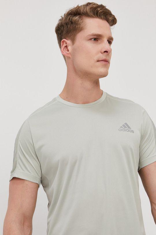 jasny oliwkowy adidas Performance - T-shirt