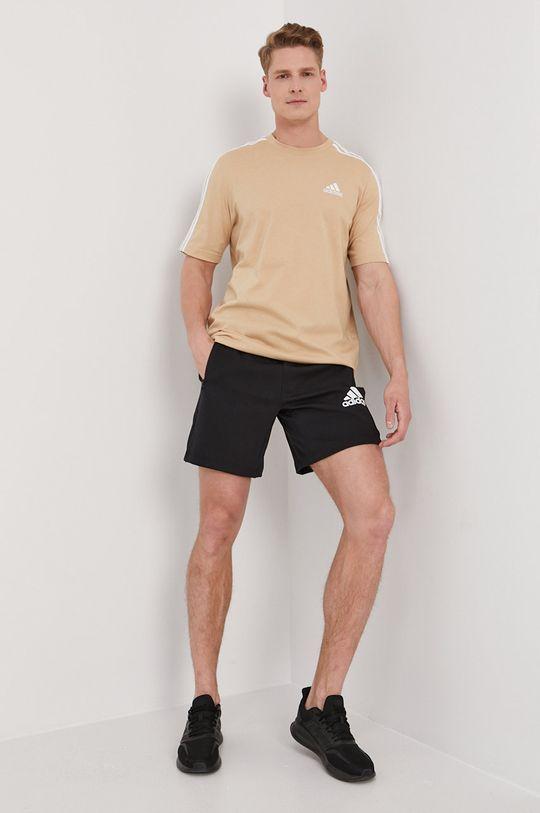 kávová adidas - Tričko Pánský
