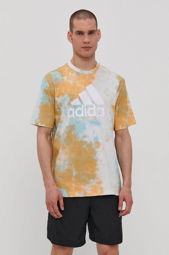 multicolor adidas - T-shirt Męski