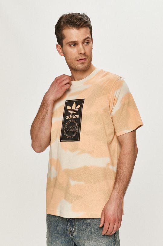 multicolor adidas Originals - T-shirt Męski