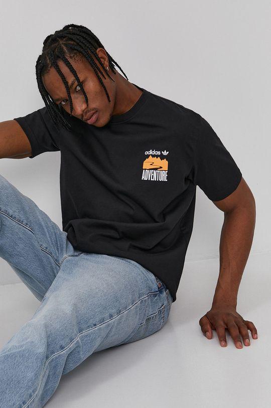 czarny adidas Originals - T-shirt Męski