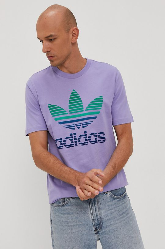 winogronowy adidas Originals - T-shirt Męski