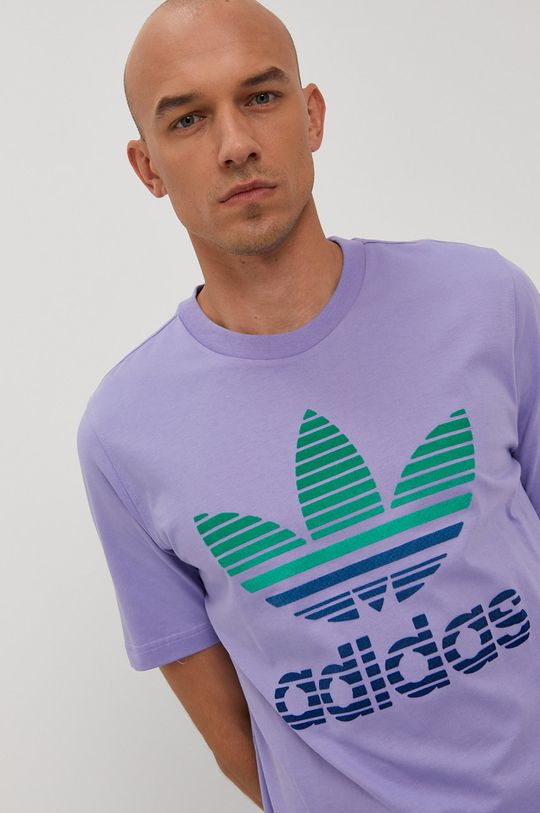 winogronowy adidas Originals - T-shirt