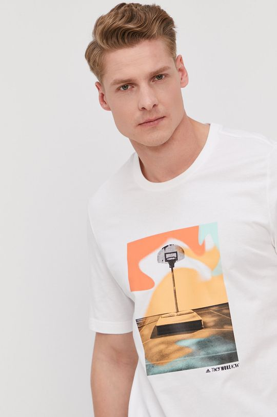 biela adidas Performance - Tričko Pánsky