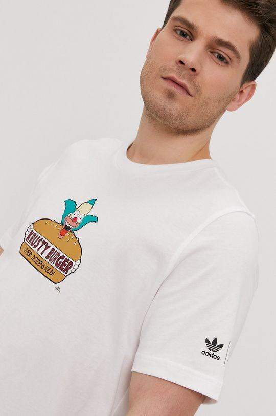 biały adidas Originals - T-shirt x The Simpsons