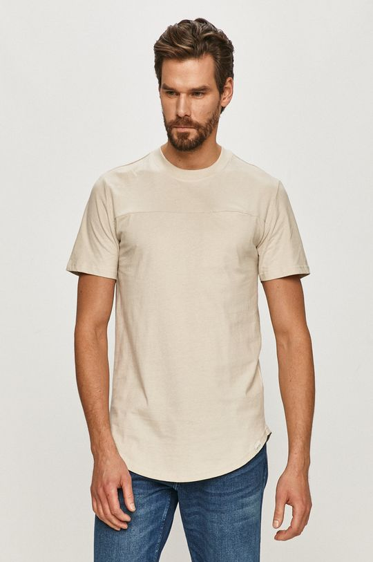 beżowy Only & Sons - T-shirt Męski