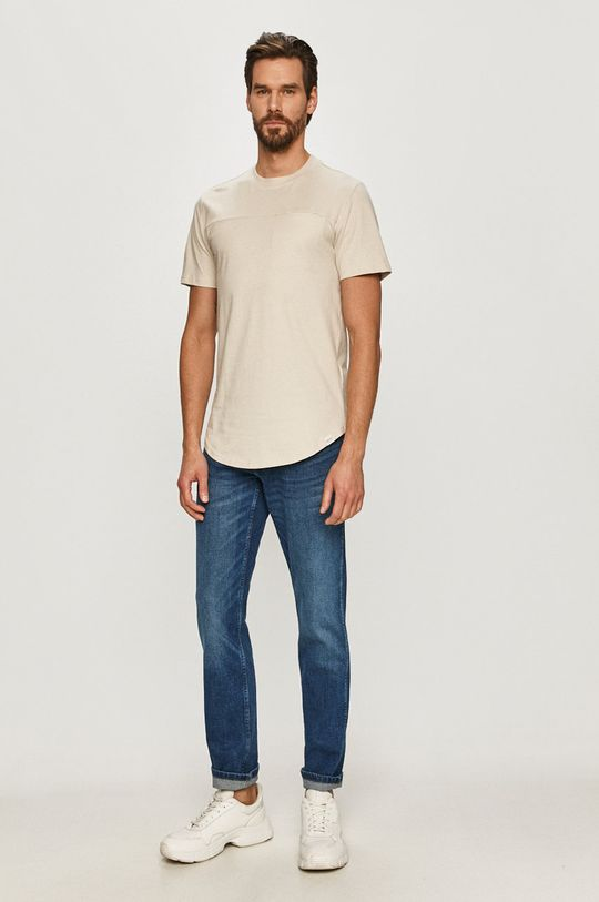 Only & Sons - T-shirt beżowy