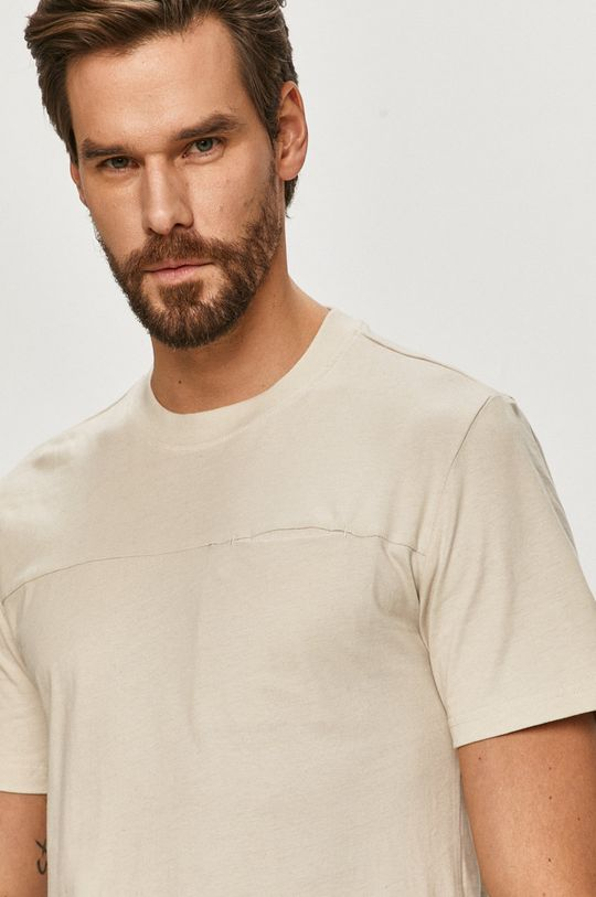 beżowy Only & Sons - T-shirt