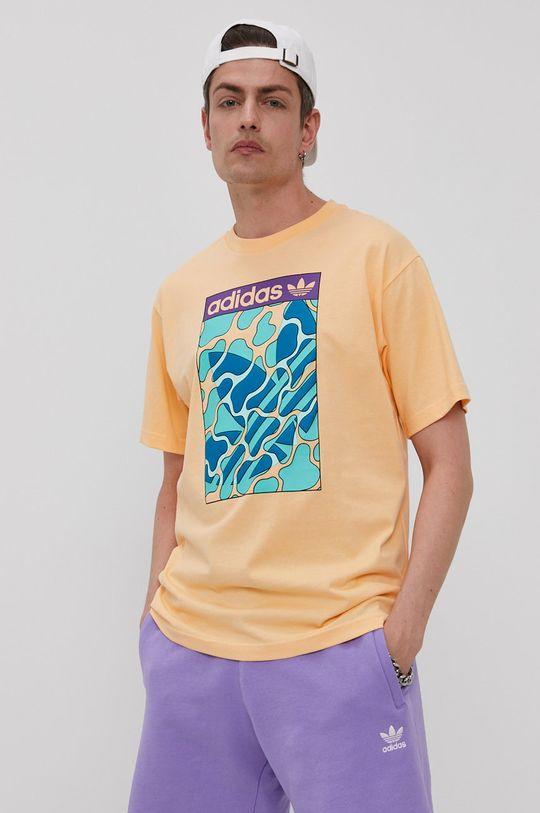 jasně oranžová adidas Originals - Tričko Pánský