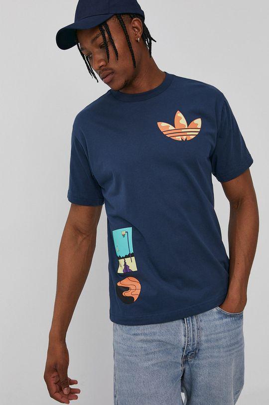 granatowy adidas Originals - T-shirt Męski