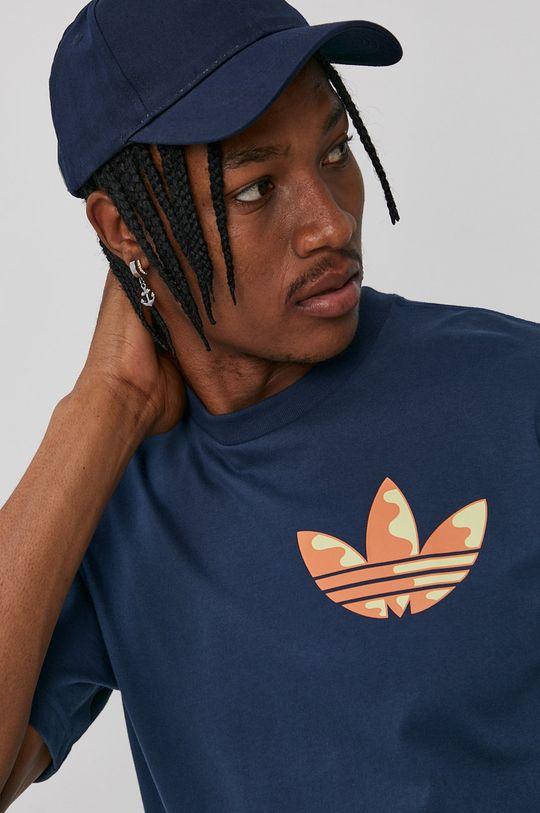 granatowy adidas Originals - T-shirt