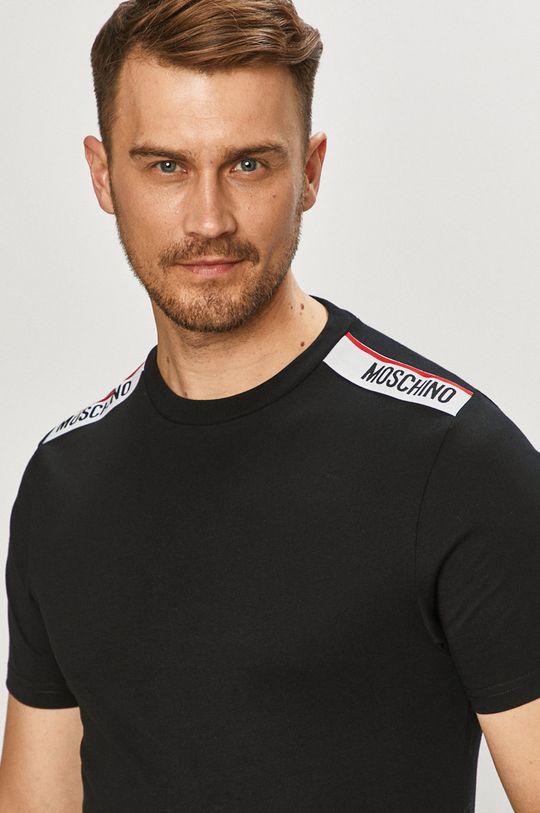 czarny Moschino Underwear - T-shirt Męski