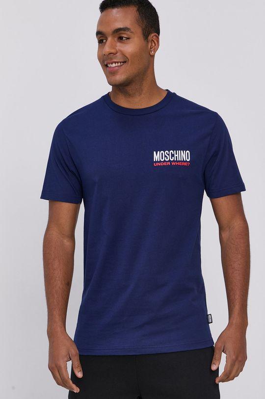 niebieski Moschino Underwear - T-shirt Męski