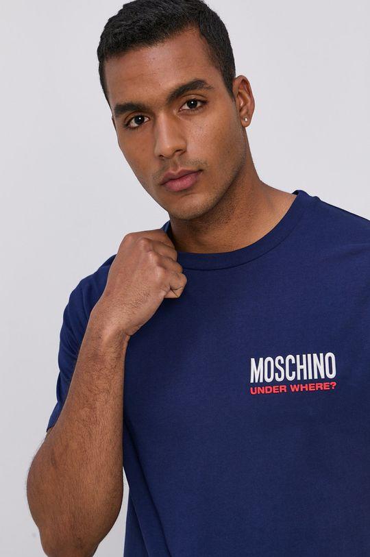 Moschino Underwear - T-shirt niebieski