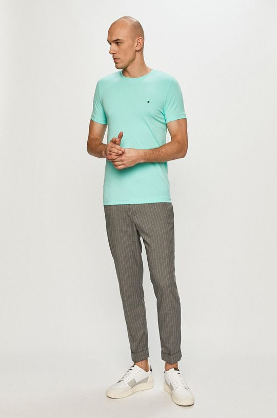 Tommy Hilfiger - T-shirt turkusowy