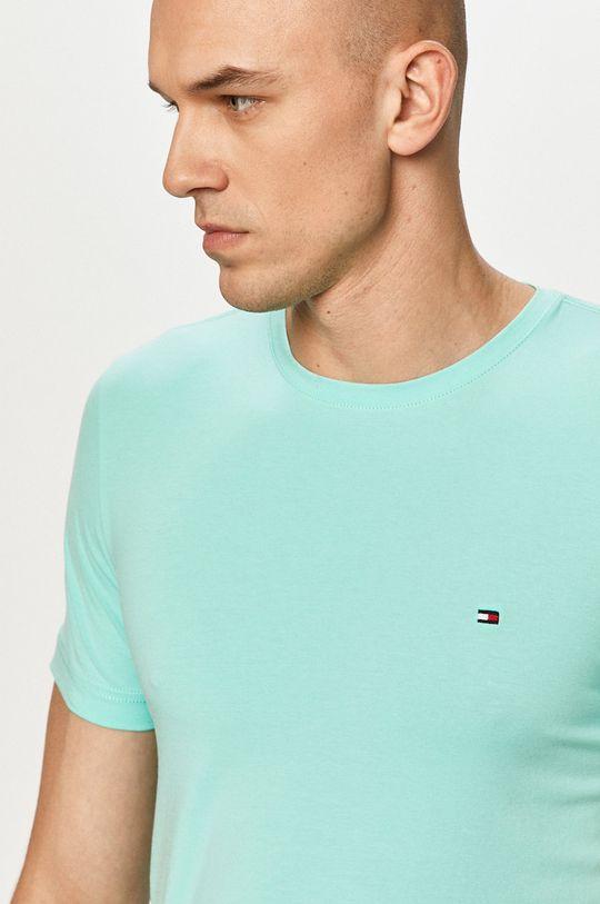 turkusowy Tommy Hilfiger - T-shirt