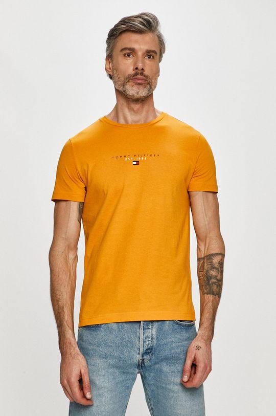 žlutá Tommy Hilfiger - Tričko Pánský