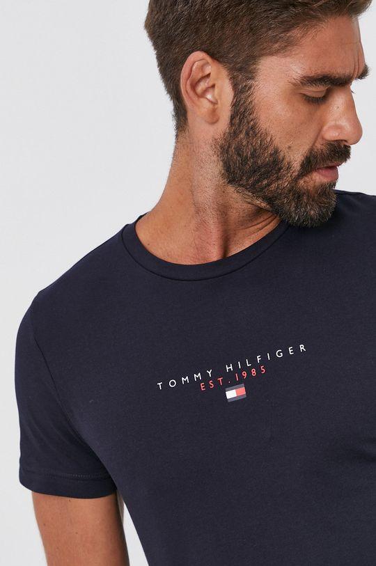 tmavomodrá Tommy Hilfiger - Bavlnené tričko