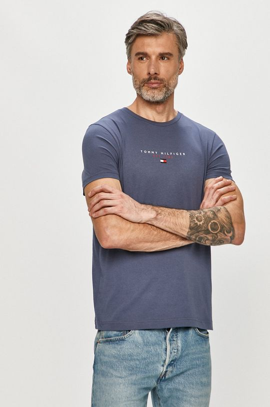 oceľová modrá Tommy Hilfiger - Tričko Pánsky