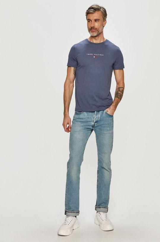 Tommy Hilfiger - Tričko oceľová modrá