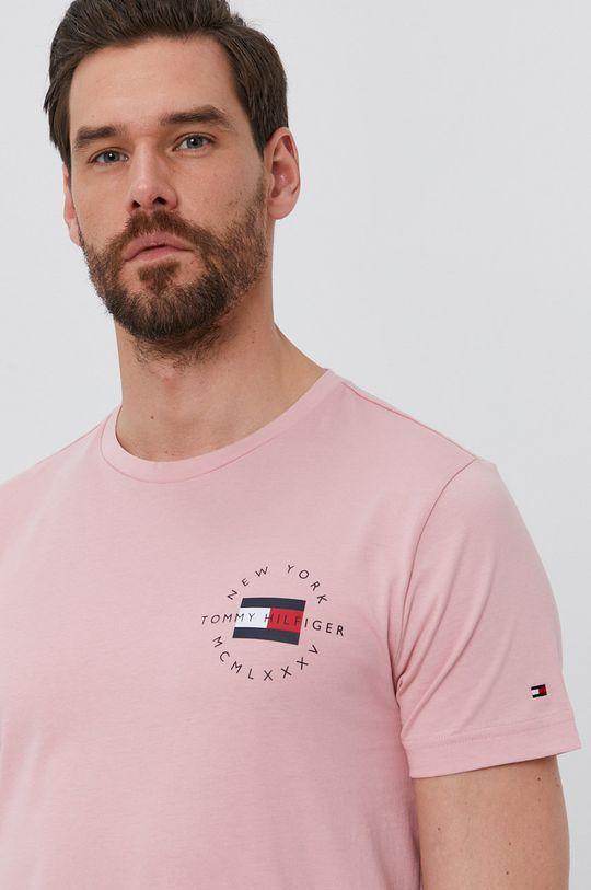 ružová Tommy Hilfiger - Tričko Pánsky