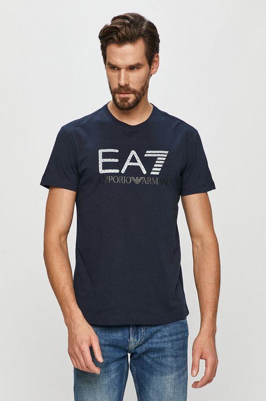 tmavomodrá EA7 Emporio Armani - Tričko Pánsky