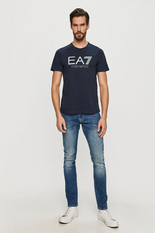 EA7 Emporio Armani - Tričko tmavomodrá