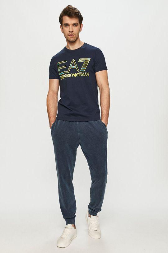 EA7 Emporio Armani - T-shirt granatowy