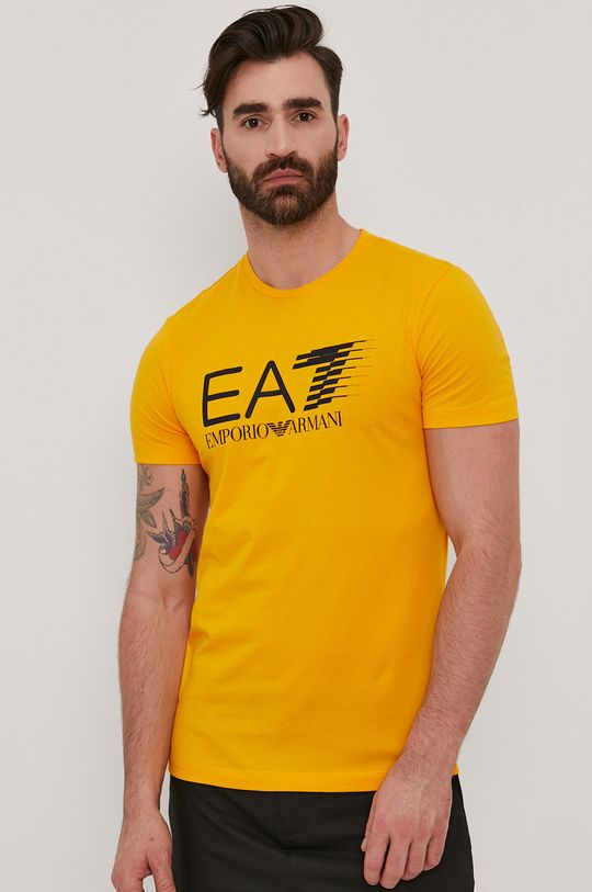 hořčicová EA7 Emporio Armani - Tričko Pánský