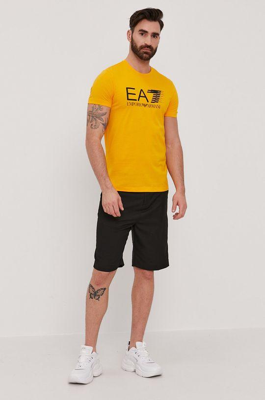 EA7 Emporio Armani - Tričko hořčicová