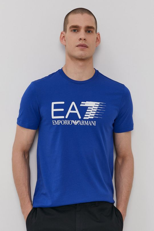 modrá EA7 Emporio Armani - Tričko Pánsky