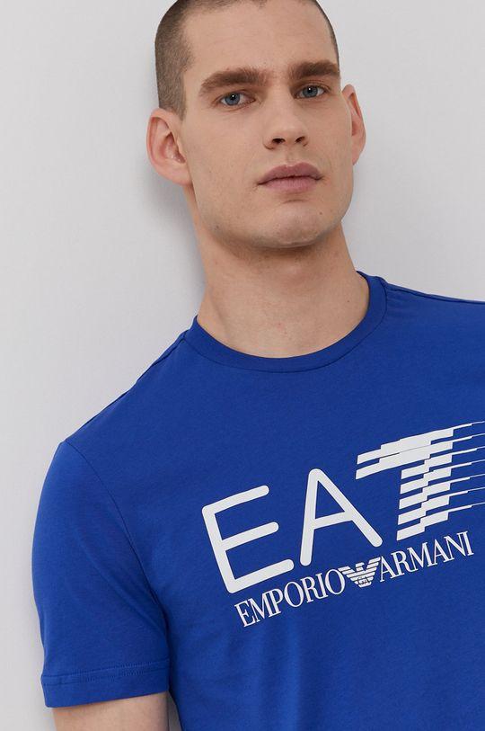 modrá EA7 Emporio Armani - Tričko
